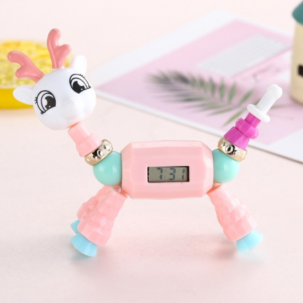 2019 Cartoon Bracelet DIY Charm Dress Quartz Clock Girls Fashion Cat Dog Digital Luxury Colorful Creaive Watch Gift For Children
