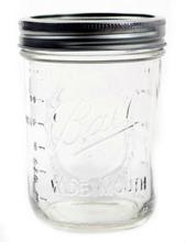 Mason jar pint wide mouth