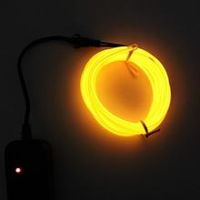 Paristokäyttöinen Led Glowstrip Neon-nauha 3 Metriä - Keltainen