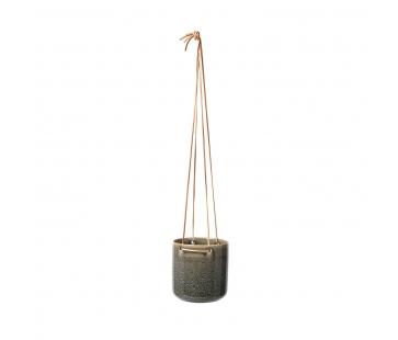 Broste Copenhagen Almas - Urtepotte til ophæng i keramik - Grå - 13,5 cm.