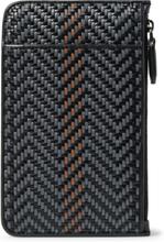 Pelletessuta Leather Pouch - Black