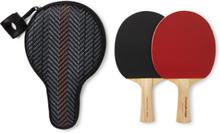 Pelletessuta Leather Table Tennis Set - Tan