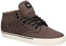 Globe Motley Mid Shoes dark brown/off white/fur 8.0 US