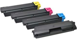 - 4 pakker - sort blå gul magenta - tonerpatron (alternativ til: Kyocera TK-580Y Kyocera TK-580M Kyocera TK-580K Kyocera TK-580C) - Lasertoner Sort