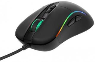 DELTACO GAMING optisk mus, RGB, Avago 3050 sensor, 4000 DPI
