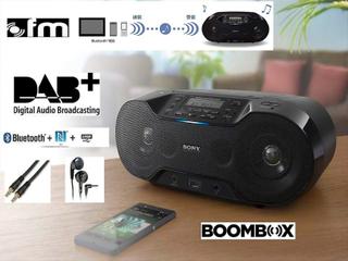 Sony ZS-RS70 trådlös DAB/DAB +/ FM-Boombox - svart