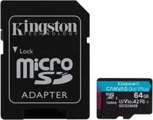Mikro-SD-hukommelseskort med adapter Kingston SDCG3 Sort 64 GB