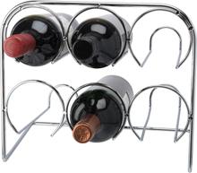 Vinställ krom 6 flaskor 29*25,5*19 cm