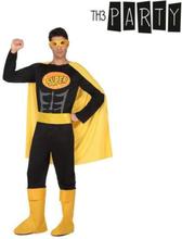 Kostume til voksne Superhelt Sort XS/S