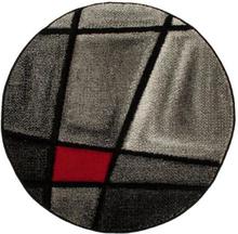 Maskinvävd matta Turin - Röd - Rund Ø120 cm
