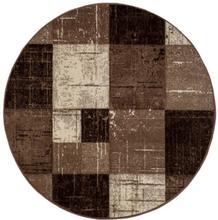 Maskinvävd matta Aversa - Nougat - Rund Ø200 cm