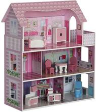 Groot poppenhuis Romantica Roze inclusief meubeltjes