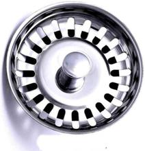 Home Kitchen Basin Drain Dopant Sink Strainer Basket Leach Waste Plug Steel