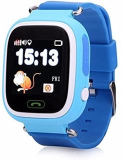 Q90 FindMe SmartWatch til Børn - med GPS Tracking / SOS nødopkald / Indstil Sikkerhedszoner - Lyse Blå