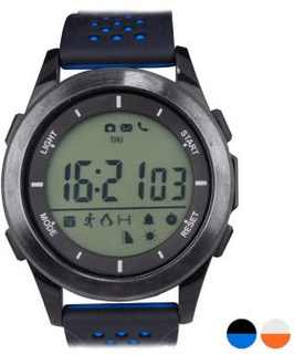 Smart Watch med skridttæller Fitness Explorer 2 LCD Bluetooth 4.0 IP68 - Farve: Sort