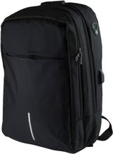 16 tum laptop ryggsäck med anti-stöld och usb-port - svart 908d01e961cc4
