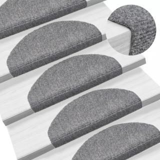 Selvklebende trappematter nålestempel 15 stk 65x21x4 cm lys grå