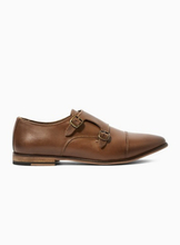 Tan Leather 'Matta' Monk Shoes