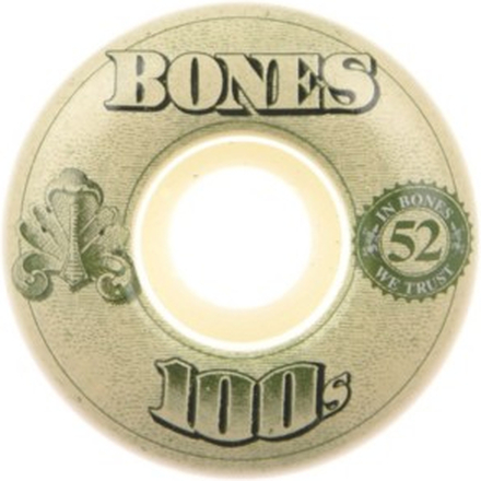 Bones Wheels 100'S Og #16 100A White 52mm Wheels white Uni