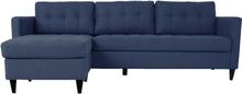 Eddie - Chaiselong Sofa - Mørkeblå (Flytbar Chaiselong) Begrænset lager