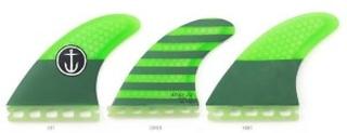 CF-Medium Thruster Single Tab Fin green Gr. Uni