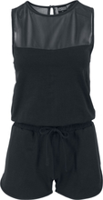 Urban Classics - Ladies Tech Mesh Hot Jumpsuit - Träningsoverall - svart