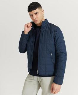 Morris Jacka Crew Quilted Jacket Blå
