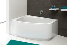 Hörnbadkar assymetriskt vänstermodell - Free Line Djup 45cm