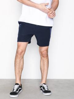 Topman Navy With Satin Side Stripe Shorts Shorts Navy Blue