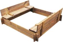 vidaXL Sandlåda FSC impregnerat trä fyrkantig
