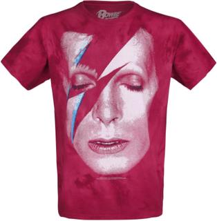 David Bowie - Aladdin Sane -T-skjorte - rød