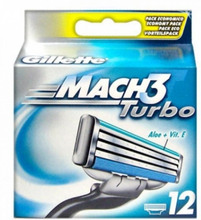 Gillette Mach3 Turbo Rakblad 12 st