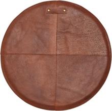 2 st Svea stolsdyna läder - Brun