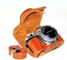 Olympus OM-D E-M10 Mark II og E-M10 Foto Kamera Beskyttelses deksel laget av kunstlær - Brunt
