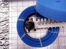 Doe-het-zelf vloerverwarmingspakket met bouwstaalmatten (2 Groepen, verlegafstand 20cm)