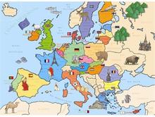 Palapeli 250 kpl Euroopan kartta