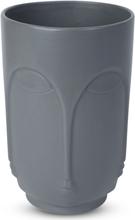 Vas Face H23 cm - Grå