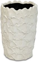 Vas Ginkgo H22 cm - Vit