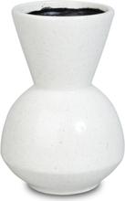 Vas Sol H22 cm - Vit melerad