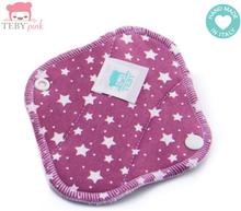 Teby Pink - mini Slipeinlage (Bio-Baumwoll-Velour) - Sterne