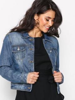 NLY Trend Essential Denim Jacket Jeansjackor Blå