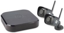 YALE-liitetty CCTV-järjestelmä - 4 kanavaa 2 Wi-Fi HD 4MP H.265 -kamerat - ulkona (IP67) - 1 TB kiintolevy