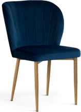 Krzesło Daria (granatowy/dąb)