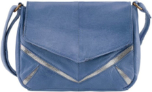 PIECES Leather Crossbody Bag Kvinna Blå