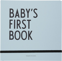 Design Letters - Baby's First Book, Blue