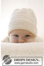 Peek-a-boo by DROPS Design - Baby Mössa Stick-mönster strl. Prematur -