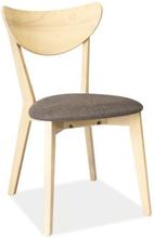 Krzesło Kansas 2 (dąb bielony/szary)