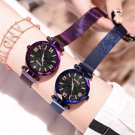 relogio feminino zegarek damski 2019 Luxury Brand Women Watch Starry Sky Fashion Female Clock Quartz Wristwatch Ladies Magnetic