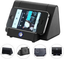 Wireless Peaker Mini Portable Bass Speaker Mobile Phone Holder Black