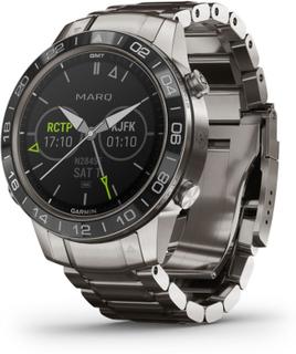 Garmin MARQ(TM) Aviator smartwatch armbåndsur i titanium